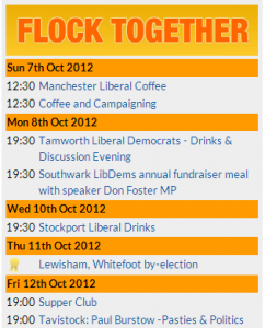 List of Flocktogether events on the Lib Dem Voice website